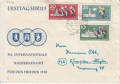 Cycling Germany 1962 FDC