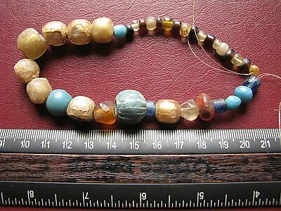 Authentic Ancient Lake Ladoga VIKING Artifact > Lot of 36 Necklace Beads  J2