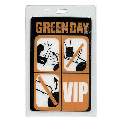 Green Day authentic 2000 concert tour Laminated Backstage Pass
