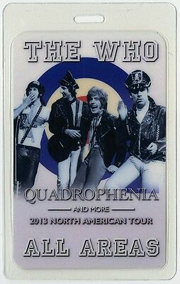 The Who authentic 2013 concert tour Laminated Backstage Pass