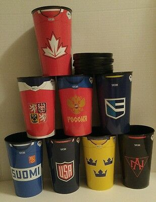 WORLD CUP OF HOCKEY 2016 PEPSI CUPS (8) CANADA usa SWEDEN russia FINLAND europe