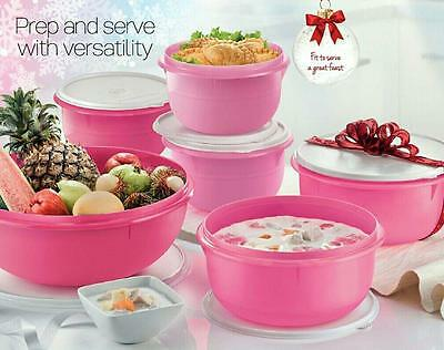 Tupperware Fix N Mix Bowl Set - Great for serving - Set of 6 - Free Postage