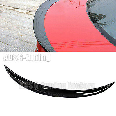 For BMW 3 Series E90 P Style Sedan Carbon fiber rear trunk boost spoiler 06-11