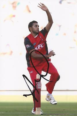 SOUTH AUSTRALIAN REDBACKS: ADIL RASHID SIGNED 6x4 BIG BASH LEAGUE PHOTO+COA
