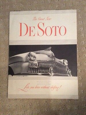 1949 DeSoto Brochure Fold Out