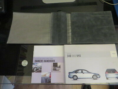 VOLVO S40 and V40 owners manual and owners handbook