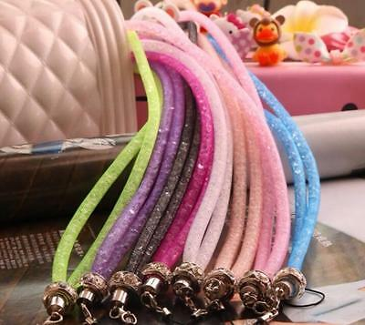 Lot Universal crystal lanyard cell phone mobile telephone belt hang chain P10
