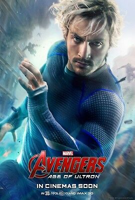 "Avengers movie poster - Age Of Ultron (h) 11"" x 17"" Quicksilver poster"