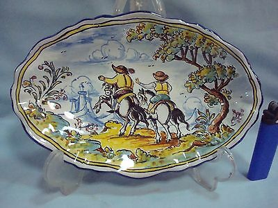 ORIGINAL TRAY Spanish Talavera Majolica Faience Pottery Talavera  Spain