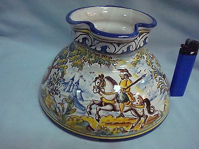 ORIGINAL Spanish Talavera Majolica Faience Pottery Pitcher Jar Talavera