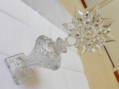 Vintage Clear Cut Crystal Perfume Bottle, 7.5""