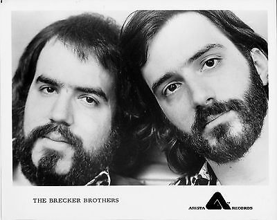 Orig B&W promo photo of Randy and Michael, the BRECKER BROTHERS, mid 1970s