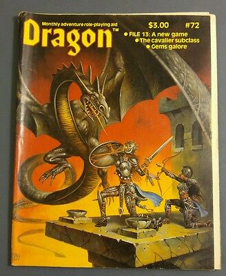 Dragon Magazine #72 TSR Advanced Dungeons & Dragons + Other RPG's April 1983