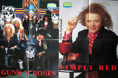 Tutto Musica Poster Manifesto – GUNS N'ROSES – SIMPLY RED Mick Hucknall