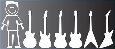 Guitar Family Auto Sticker Decal