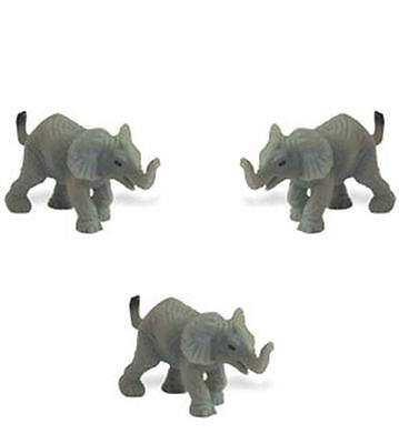 Doll House Shoppe Elephant 3 Toy Game Pieces SL340722 Micro-mini Miniature 1:12
