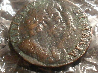 1694 William & Mary farthing.
