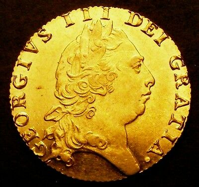 1794 GEF George III Gold Guinea Coin CGS 65, pre Sovereign  MS60 - MS61