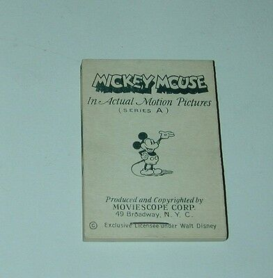 Mickey Mouse Flip Book Mutascope Movie Book Walt Disney 1930s Unused