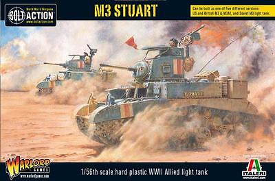 Warlord Games Bolt Action M3 Stuart Allied Light Tank 28mm Scale Miniatures