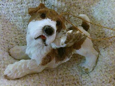 Jack Russell Terrier Angel With Wings Christmas Tree Holiday Ornament~Dog Puppy