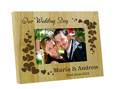Personalized Frame Wedding Day Wooden Engraved Picture Frame Gift