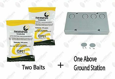 2 Baits & 1 Nemesis Termite Above Ground Monitor Bait Stations Pest Control
