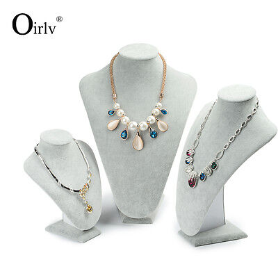 Oirlv Jewelry Display Pendant Necklace Bust Stand for Shop Shelf Exhibition Wood
