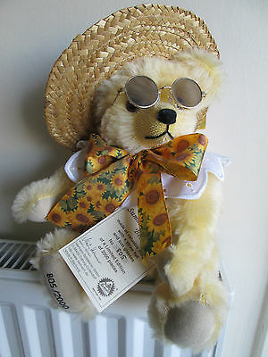 "HERMANN Spielwaren ""SUMMER SUNSHINE BEAR"" Ltd Ed. 805/2000 MOHAIR,Hat/Sunglasses"