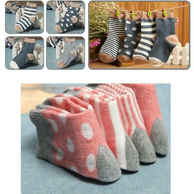 4 Pairs Soft Newborn Baby Infant Boys Girls Cotton Ankle Socks Stockings 0-3Y