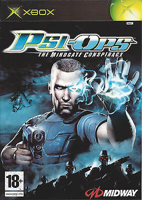 PSI-OPS THE MINDGATE CONSPIRACY for Xbox - PAL - manual in French, Dutch