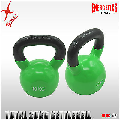 10Kg X 2 -  20Kg Iron Vinyl Kettlebell Weight - Cross Fit Strength Training