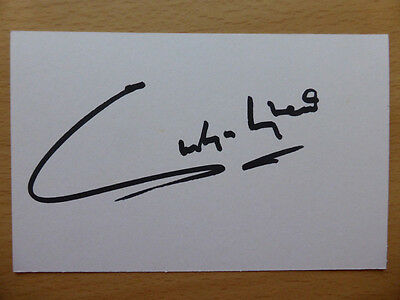 Hand Signed Football Index Cards *****H***** Page 3