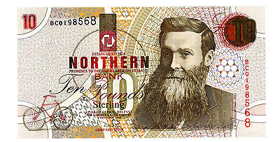 Northern ireland … P-198b … 10 Pounds … 1999 … *UNC*