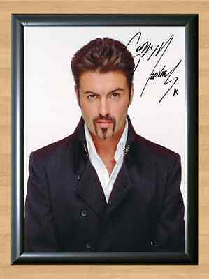 George Michael Patience Signed Autographed A4 Print Photo Poster Memorabilia cd