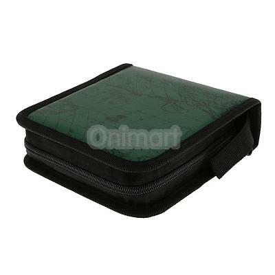 40 CD DVD Blu-ray Disc Holder Carry Carpeta de almacenamiento con cremallera