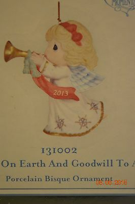 2012 Precious Moments Peace On Earth And Goodwill To All Ornament 131002 - NIB