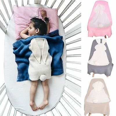Baby Newborn Rabbit Sleeping Bag Sack Swaddle Wrap Stroller Crib Bedding Quilt