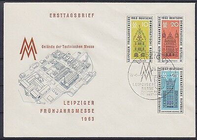 DDR FDC 947 - 949 mit SST Leipzig Messe 26.02.1963, first day cover
