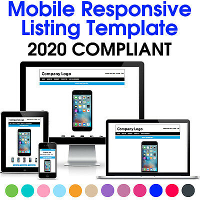 Ebay Listing Template Responsive Mobile Design Html Professional Auction 2018