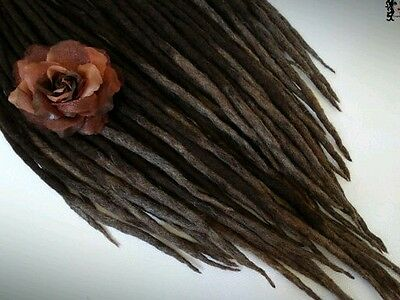 """wool dreadlock """"  The Heat Of The Earth """" 20 pieces"""