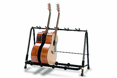 Hercules GS525B Acoustic / Electric guitar rack stand 5 way