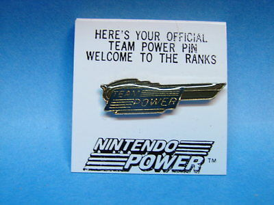1980's Nintendo Power Magazine Official Team Power Pin Members Only New