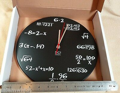 "NEW DCI POP QUIZ MATH WALL CLOCK 11.5"" Mathmetician Mathmatics Whiz"