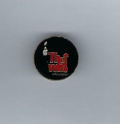 "The Who Red Logo Version Enamel ""The Who Maximum"" Metal Lapel Hat Pin 1"""