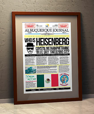 Breaking Bad TV Faux News A3 Poster (Walter White)