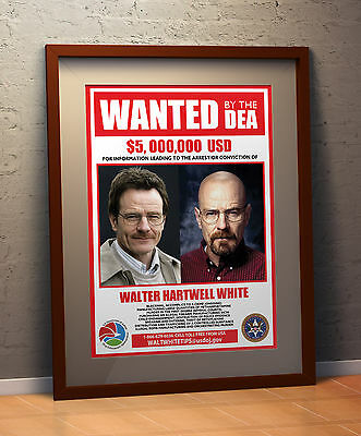 Breaking Bad Faux WANTED DEA POSTER  A3 Poster