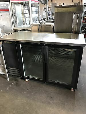 True TBB-2G Glass Door Back Bar Refrigerator Cooler