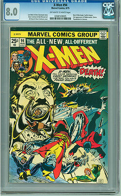 X-men 94 CGC 8.0 VF OW/W 1st Appearance of New Xmen in Title Marvel 1975