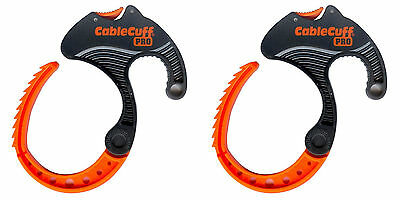 Cable Cuff PRO MEDIUM - Cable Clamp - Adjustable, Reusable - 2 Pack